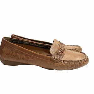 Eddie Bauer | Brown Leather Moccasin Loafer